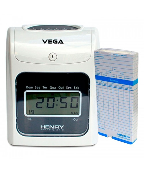 Relógio Ponto Vega com 50 cartões