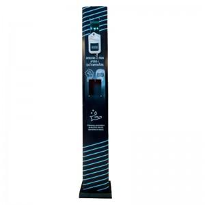 Totem Dispensador Automático Álcool Gel com Reconhecimento Facial e Termômetro