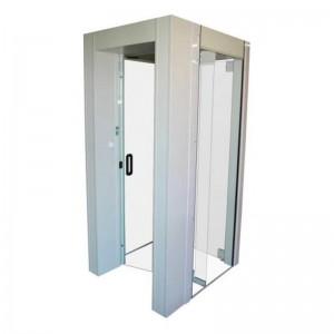 Cabine de segurança com detector de metais
