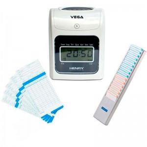 Relógio Ponto Vega com chapeira de 15 lug. e 100 cartões