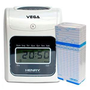 Relógio Ponto Vega com 200 cartões cartolina