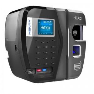 Relógio Ponto Henry Hexa A Bio Azul Prox Barras