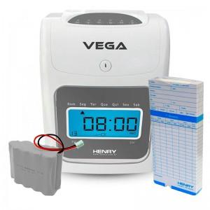 Relógio Ponto Vega com 50 cartões e Bateria